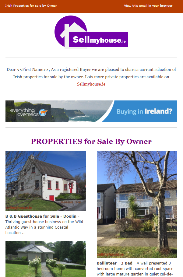 Property for sale by owner privately - March 2018 Newsletter
